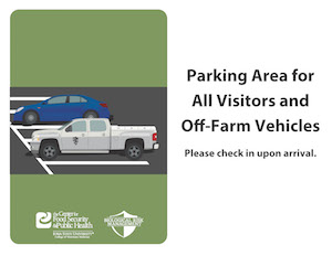 Parking Area for All Visitors and Off-Farm Vehicles