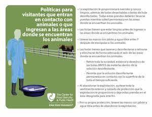 Políticas para visitantes que entran en contacto con animales