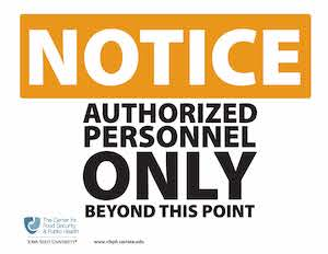 Authorized Personnel only beyond this point