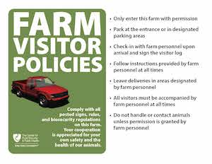 Farm Visitor Policies